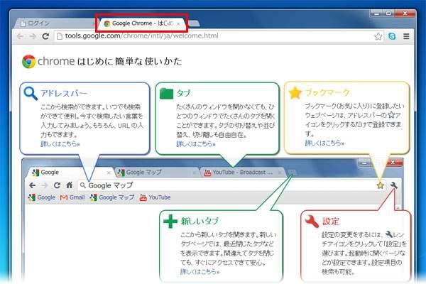 Google Chromeのインストール:簡単な使い方