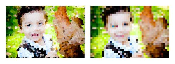 ステンドグラスやモザイク風の効果をつける | Photoshop Express の機能