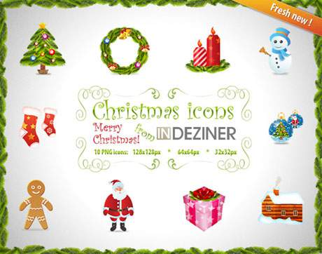 INDEZINER Christmas icons