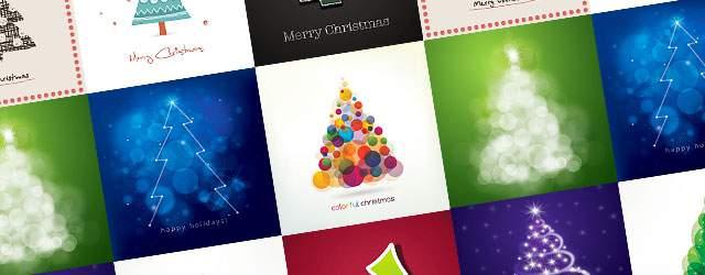 無料イラスト素材:クリスマスツリーのベクターテンプレートまとめ