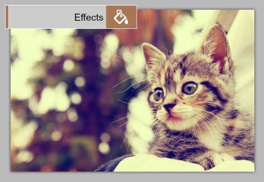 Effects:画像全体に雰囲気のある効果をつける