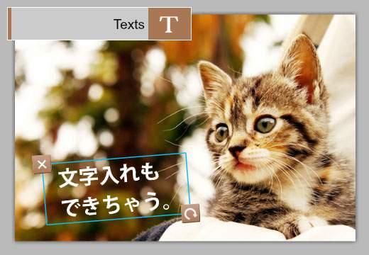Texts:文字を入力する