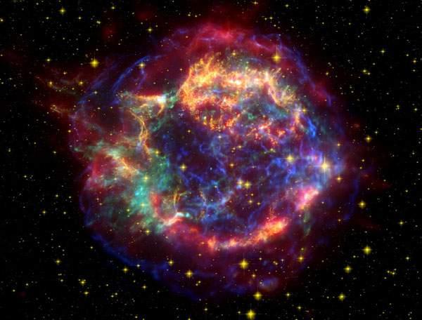 カシオペア座の超新星爆発