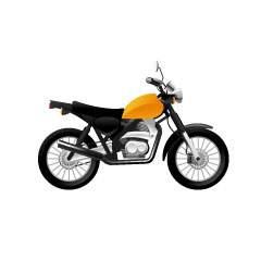 バイク-ストリート-黄