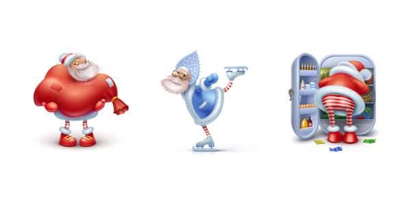 Santa Claus Icons