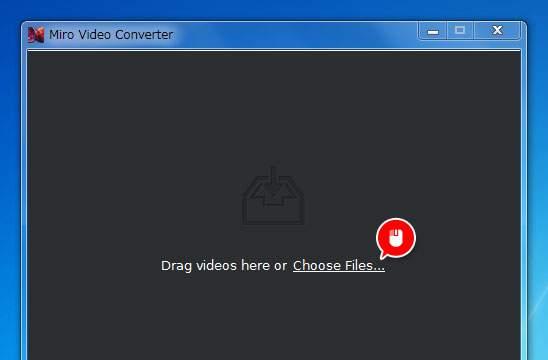 「Choose Files」から変換したい動画を選ぶ