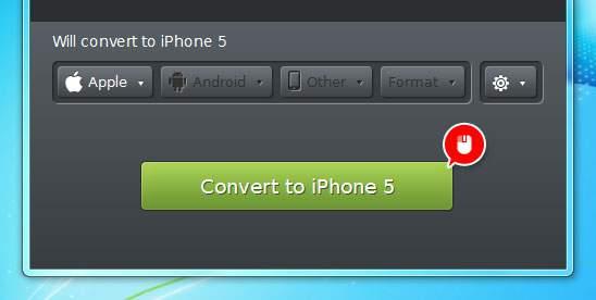 「Convert」ボタンをクリック
