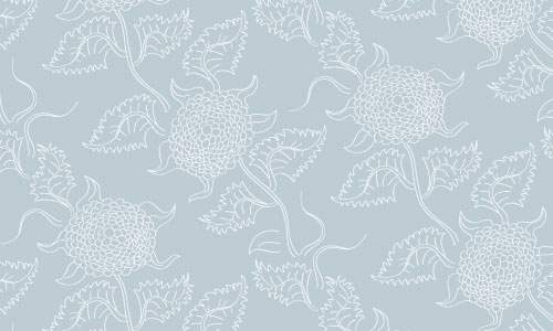 Free Vector Pattern – Hand-drawn Floral