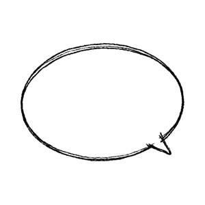 手書き楕円