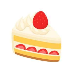 イチゴのショートケーキのイラスト素材