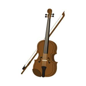 ヴァイオリンのイラスト素材