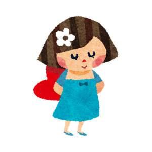 バレンタインのイラスト「恋する女の子・花」