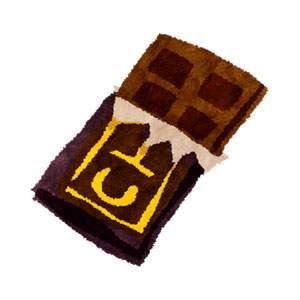 チョコレートのイラスト「板チョコ」