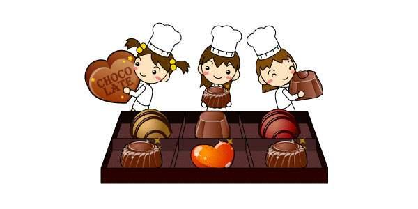 チョコレートとパティシエの女の子