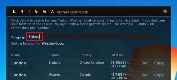 Rainmeterスキン:Enigmaで天気を表示する設定方法