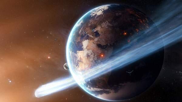 地球と彗星