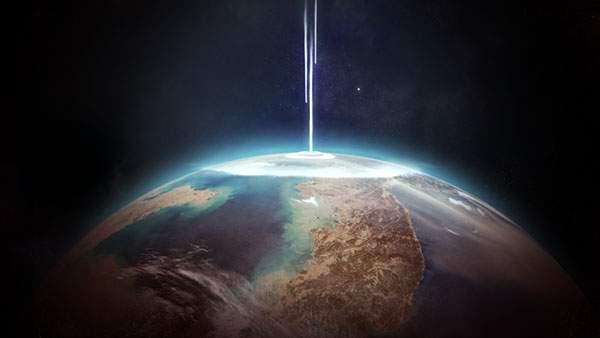 地球に降る光