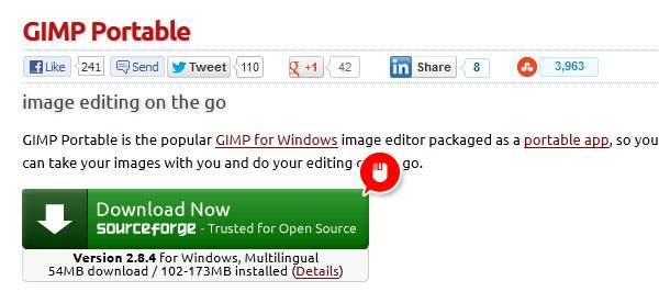 GIMP2.8.4をダウンロード
