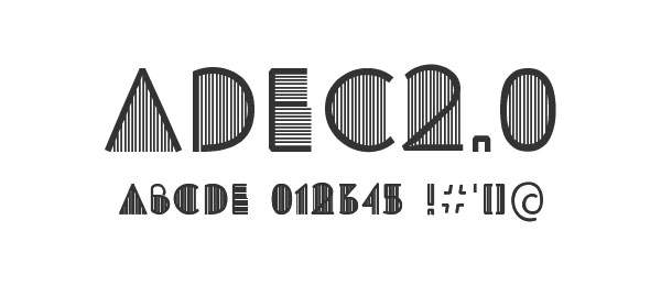 Typeface Adec2.0 (free)