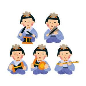 ひな祭りのイラスト「五人囃子」
