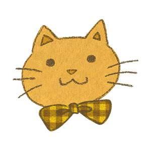 ゆるいタッチの猫