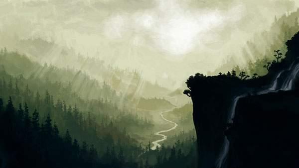 光が降り注ぐ森