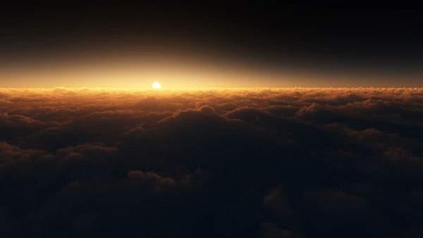 雲の上から見る日の出
