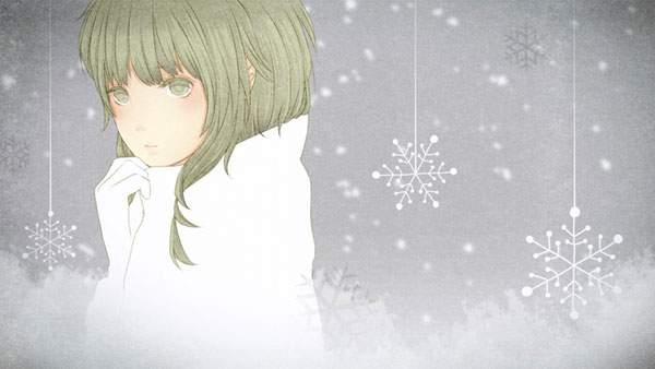 雪の結晶とGUMI
