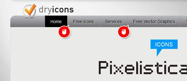 「Free Icons」と「Free Vector Graphics」のタブから探す