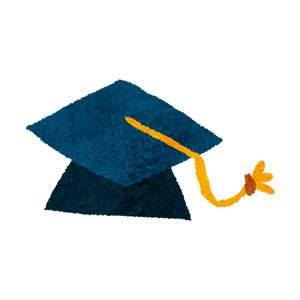 卒業式のイラスト「学生帽」