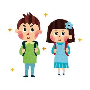 入学式のイラスト「小学生」