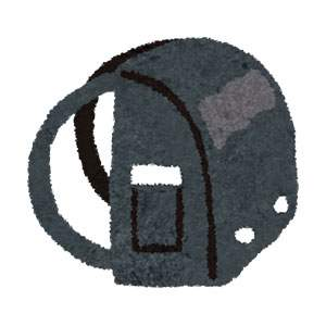 ランドセルのイラスト「黒」