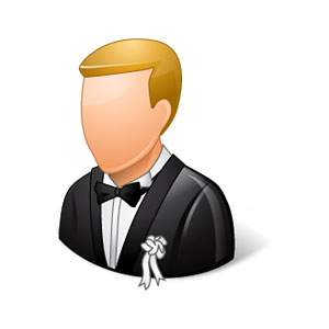Social Life Wedding Bridegroom Light Icon