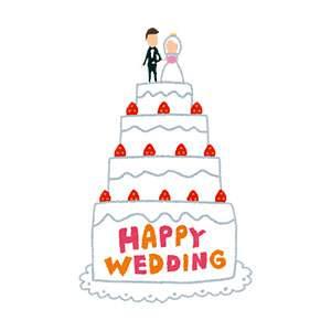 結婚式のイラスト「ウェディングケーキ」