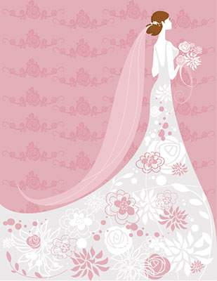 かわいいピンクのイラストテンプレート