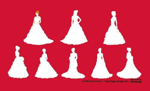 ブライダル系のデザインに使える花嫁素材