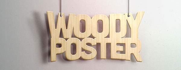 無料素材:木目と影がリアルな木製プレート風テキストエフェクトPSD