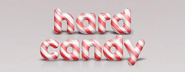 無料素材:キャンディケイン風のかわいいテキストエフェクトが作れるPSD