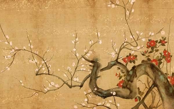 桜を描いた屏風絵