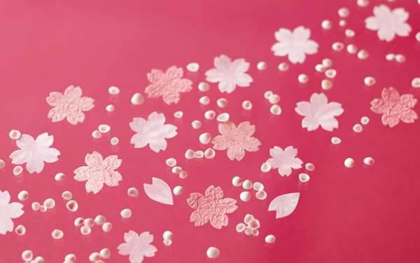 かわいい桜の和風コラージュ