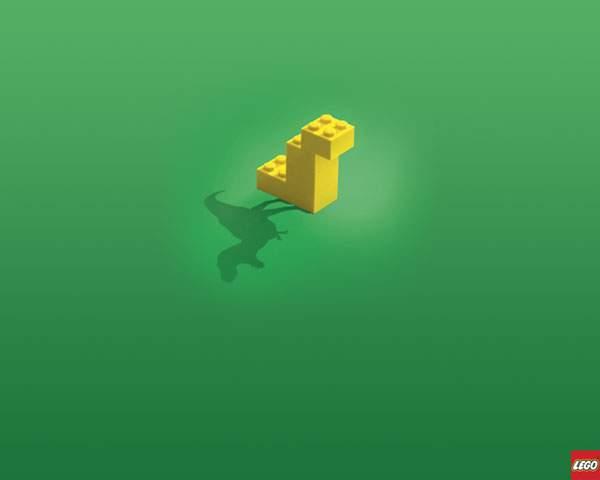 レゴで組んだ恐竜