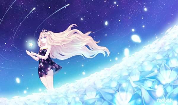 光る花畑と星空とSeeU