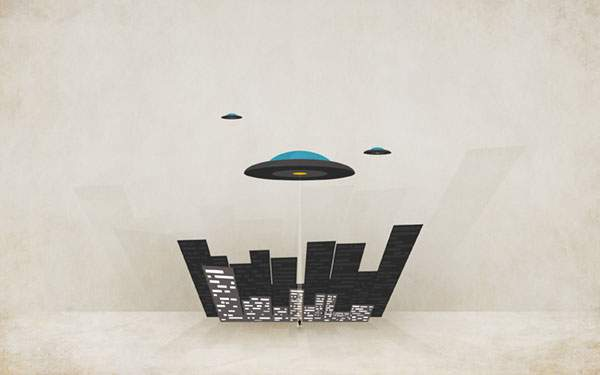 UFOと街と人間
