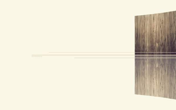 木製のフェンスとライン
