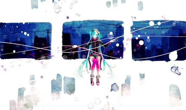 カラフルな水彩タッチの高画質イラスト