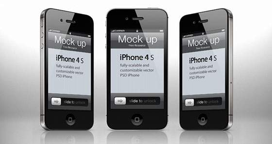 iPhone4S ベクターモックアップPSD