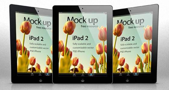 iPad2 ベクターテンプレートPSD