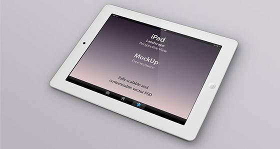 iPad 3D モックアップテンプレート