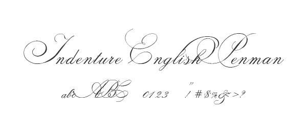 Indenture English Penman