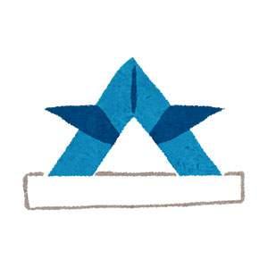 こどもの日のイラスト「折り紙兜・青」